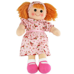 Hopscotch Lovely Soft Rag Doll MAISIE Pink Dress Doll Large 35cm