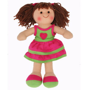 Hopscotch Soft Rag Doll MATILDA Dressed Girl Doll Medium 25cm