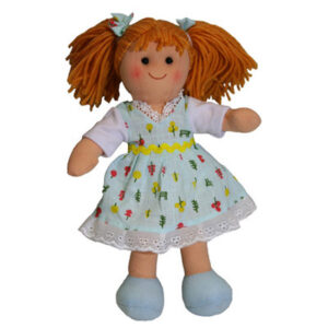 Lovely Soft Rag Doll PIXIE Dressed Girl Doll Medium 25cm