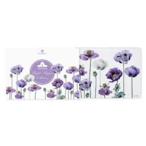 Ashdene Dining Kitchen Purple Poppies Cork Backed Placemats Set 4