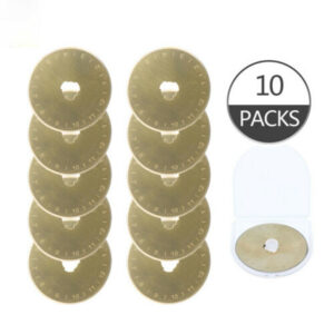 Sew Better Titanium Gold Set 10 Rotary Cutting Blades 45mm Fits All Brands