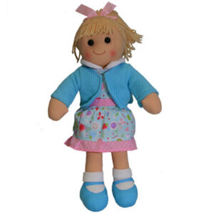 Hopscotch Lovely Soft Rag Doll VICTORIA Blue Jumper Doll Large 35cm