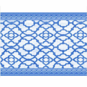French Country Table Runner VINTAGE INDIGO BLUE 33x150cm