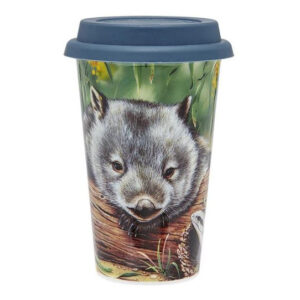 Ashdene Travel Tea Coffee Mug Cup Australian Fauna Wombat
