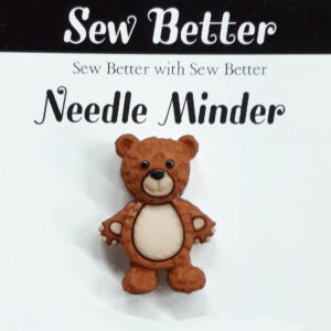 Sew Better Cross Stitch Needle Minder TEDDY BEAR Keeper