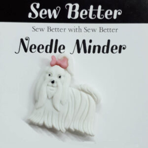 Sew Better Cross Stitch Needle Minder MALTESE DOG Keeper