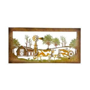 French Country Vintage Inspired Metal FARM LIFE Cutout Wall Art