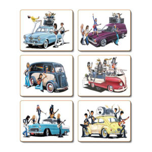 Country Kitchen CLASSIC ROCK Cinnamon Cork Back Placemats Set 6