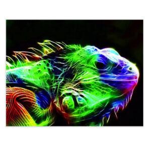 5D Diamond Painting Full Image Square Drills LIZARD 40x30cm
