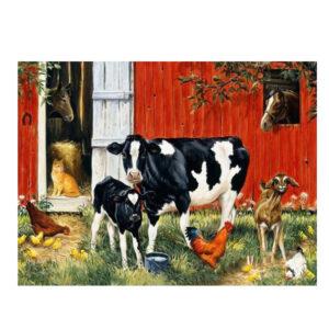 5D Diamond Painting Full Image Square Drills FARMYARD COW 40x30cm
