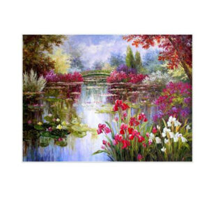 5D Diamond Painting Full Image Square Drills FLORAL LAKE 50X40cm