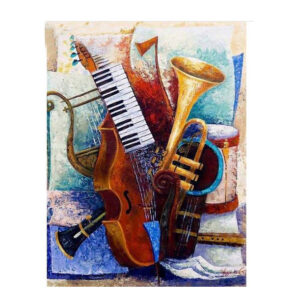 5D Diamond Painting Full Image Square Drills MUSICAL 40X50cm