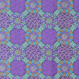 Quilting Sewing Fabric ABORIGINAL WILD FLOWERS BUSH TUCKER 50x55cm FQ