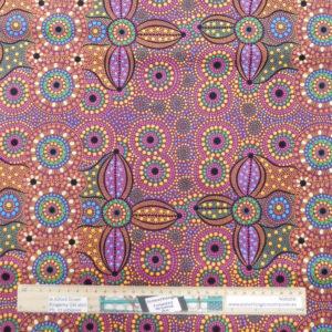 Quilting Sewing Fabric ABORIGINAL SPIRIT PLACE Material 50x55cm FQ