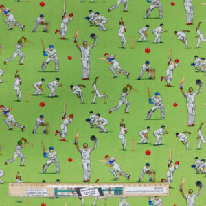 Quilting Sewing Fabric ALL ROUNDER CRICKET PLAYERS Material 50x55cm FQ