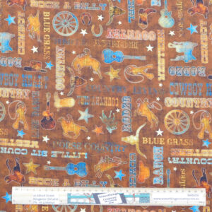 Quilting Sewing Fabric LIL BIT COUNTRY Allover Material 50x55cm FQ
