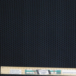 Quilting Sewing Fabric CHICKEN WIRE HONEYCOMB BLACK Material 50x55cm FQ
