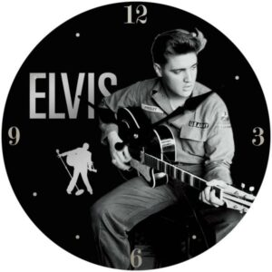 Clock French Country Wall 30cm ELVIS PRESLEY US ARMY Glass