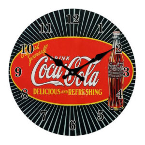 Clock French Country Wall 30cm COCA COLA COKE Glass