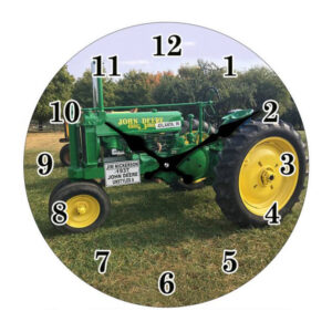 Clock French Country Wall 30cm JOHN DEERE TRACTOR Glass