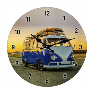 Clock French Country Vintage Inspired Wall Small BLUE KOMBI
