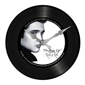 Clock French Country Vintage Look Wall ELVIS KING 17cm Small