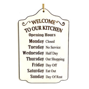 Country Wooden Printed Sign WELCOME TO OUR KITCHEN Plaque