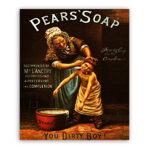 Country Metal Tin Sign Wall Art PEARS SOAP YOU DIRTY BOY Plaque