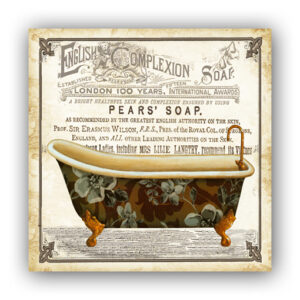 Country Metal Tin Sign Wall Art PEARS ENGLISH COMPLEXION Plaque