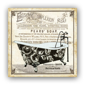 Country Metal Tin Sign Wall Art ENGLISH COMPLEXION PEARS SOAP 1 Plaque