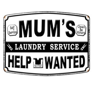 Country Metal Tin Sign Wall Art MUMS LAUNDRY SERVICE Plaque