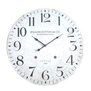 Clock French Country Vintage Inspired Wall 60cm WILLIAM SUTTON MDF