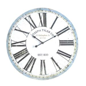 Clock French Country Vintage Inspired Wall 60cm JOSEPH TYLER MDF