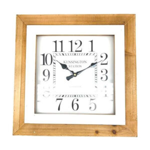Clock French Country Vintage Inspired Wall SQUARE KENSINGTON STATION