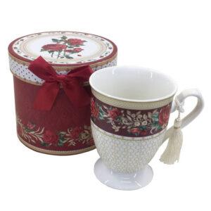 Kitchen Tea Coffee Mug RED ROSE Cup 1 only Gift Boxed