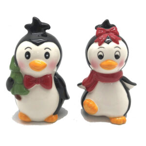 French Country Novelty Christmas PENGUINS Salt and Pepper Set