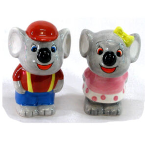 French Country Novelty Kitchen Dining KOALAS Salt and Pepper Set