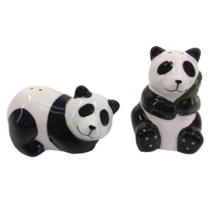 French Country Novelty Kitchen Dining PANDAS Salt and Pepper Set