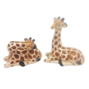 French Country Novelty Kitchen Dining GIRAFFE Salt and Pepper Set