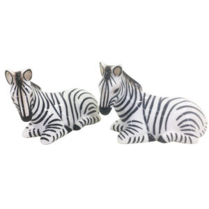 French Country Novelty Kitchen Dining ZEBRAS Salt and Pepper Set