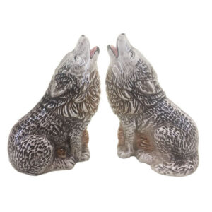French Country Novelty Kitchen Dining WOLF Salt and Pepper Set