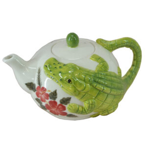 French Country Lovely Teapot Novelty CROCODILE China Tea Pot