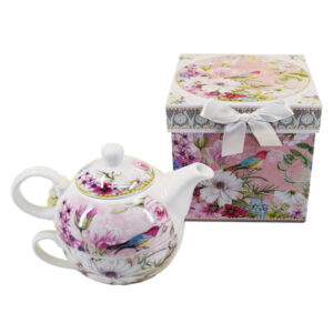 French Country Lovely Kitchen Tea For One FLOWER and BIRD China Teapot