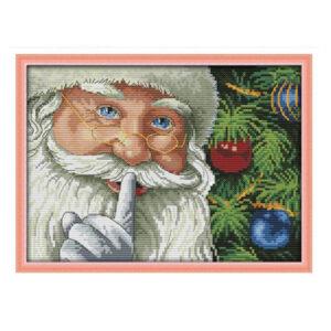 Cross Stitch Kit CHRISTMAS SANTA X Stitch Joy Sunday Designs Incl Threads