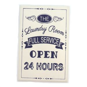 Country Wooden Printed Sign LAUNDRY ROOM FULL SERVICE Plaque