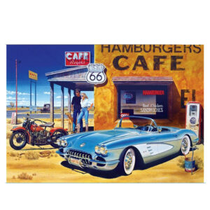 5D Diamond Painting Full Image Square Drills CAFE ROUTE 66 50X40cm