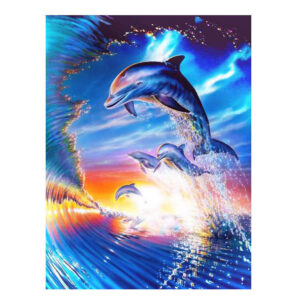 5D Diamond Painting Full Image Square Drills DOLPHINS 30X40cm