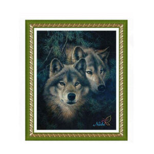 5D Diamond Painting Full Image Square Drills WOLVES 40 X 32cm