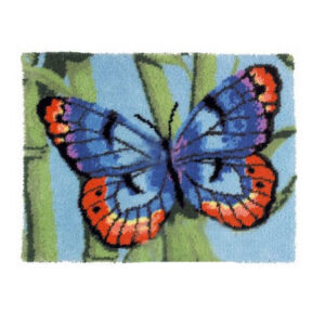 Crafting Kit BUTTERFLY Latch Hook with Canvas Mat Hook Threads