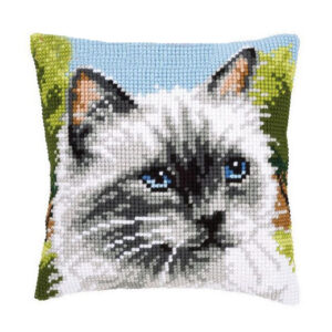 Crafting Kit CAT Cross Stitch Cushion Inc Canvas and Threads